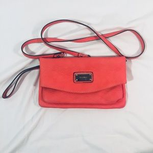 Nine West Coral crossbody clutch purse
